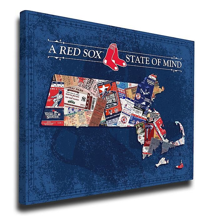 Alternate image 1 for MLB Boston Red Sox Massachusetts State of Mind Canvas Print Wall Art