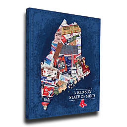 MLB Boston Red Sox Maine State of Mind Canvas Print Wall Art
