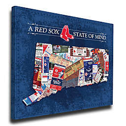 MLB Boston Red Sox Connecticut State of Mind Canvas Print Wall Art