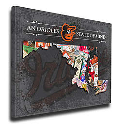 MLB Baltimore Orioles Maryland State of Mind Canvas Print Wall Art