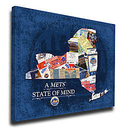 MLB New York Mets New York State of Mind Canvas Print Wall Art