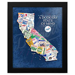 MLB Los Angeles Dodgers California State of Mind Canvas Framed Print Wall Art