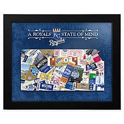 MLB Kansas City Royals Kansas State of Mind Canvas Framed Print Wall Art