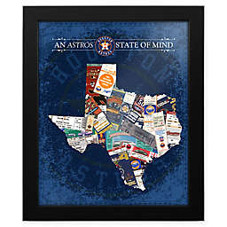 MLB Houston Astros Texas State of Mind Canvas Framed Print Wall Art