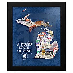 MLB Detroit Tigers Michigan State of Mind Canvas Framed Print Wall Art
