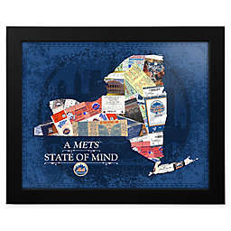 MLB New York Mets New York State of Mind Canvas Framed Print Wall Art