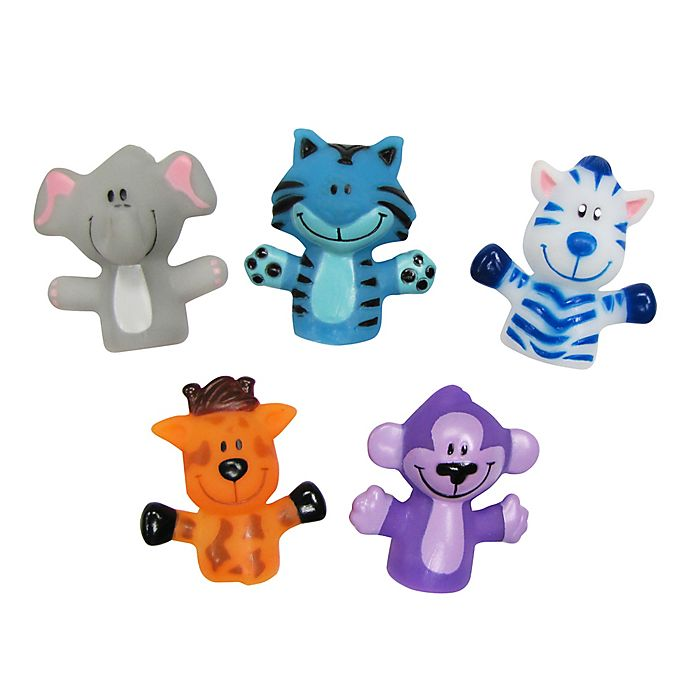 Alternate image 1 for Idea Factory 5-Piece Animal Finger Puppets