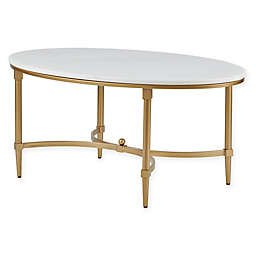 Madison Park Bordeaux Coffee Table in White/Gold