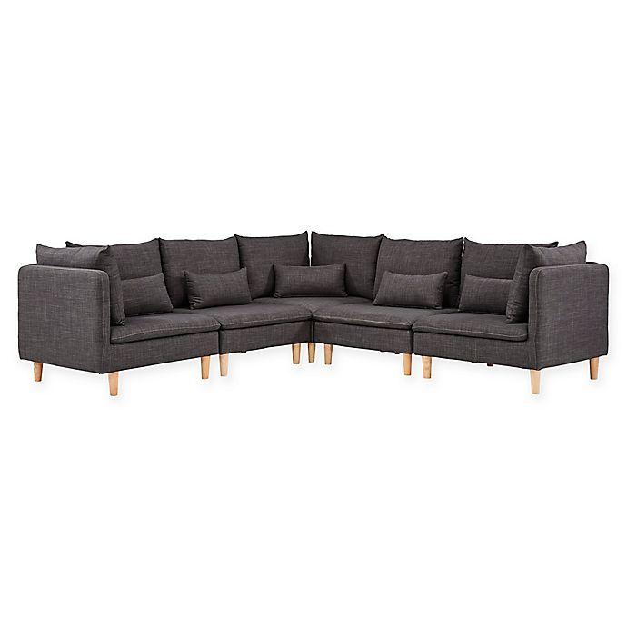 Verona Home Mandi Mid-Century Modular Sectional Sofa | Bed ...