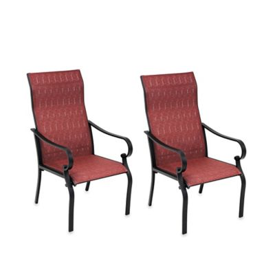 Hawthorne Oversized Sling Chairs In Red Set Of 2 Bed