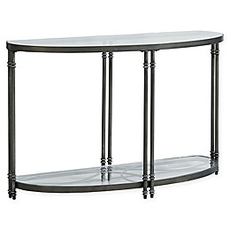 Standard Furniture Terrazza Console Table in Brushed Nickel
