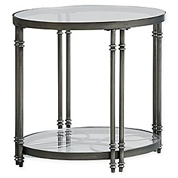 Standard Furniture Terrazza End Table in Brushed Nickel