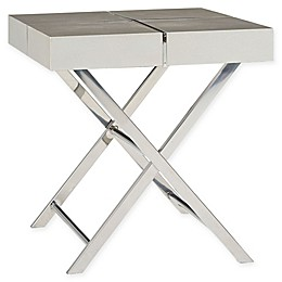 Standard Furniture Ava End Table in Silver