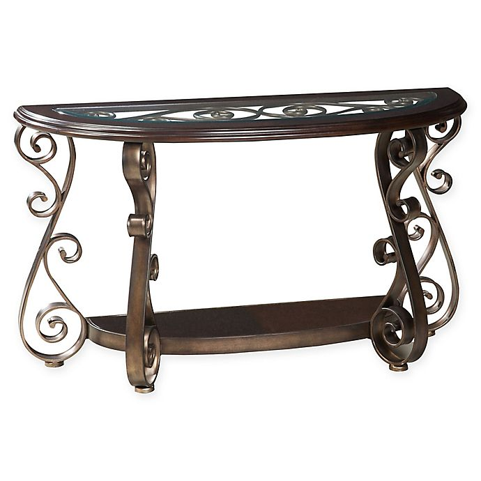 Standard Furniture Bombay Console Table In Cherry Bed