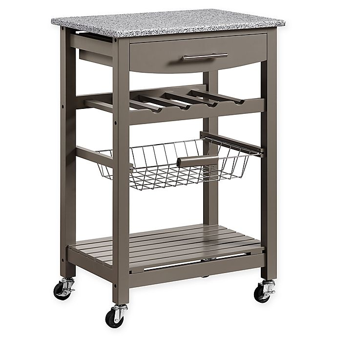 linon kitchen island linon home roger kitchen island with granite top bed bath beyond 7895