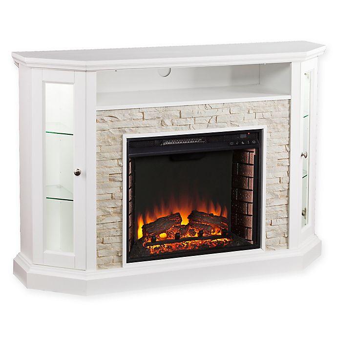 Alternate image 1 for Southern Enterprises Redden Corner Convertible Electric Media Fireplace in White