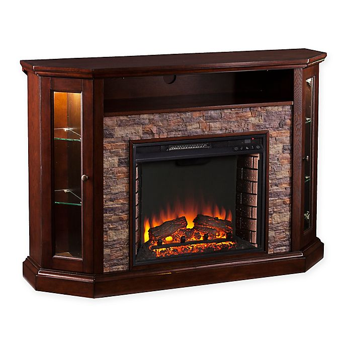 Alternate image 1 for Southern Enterprises© Redden Corner Convertible Electric Fireplace