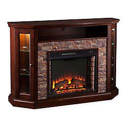 Southern Enterprises Redden Corner Convertible Electric Media Fireplace