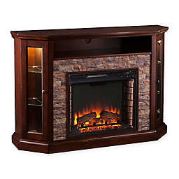 Southern Enterprises Redden Corner Convertible Electric Media Fireplace