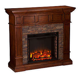 Southern Enterprises Merrimack Simulated Stone Convertible Electric Fireplace