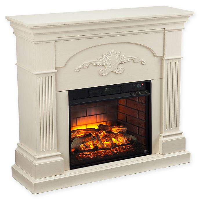 Alternate image 1 for Southern Enterprises Sicilian Harvest Infrared Electric Fireplace in Ivory