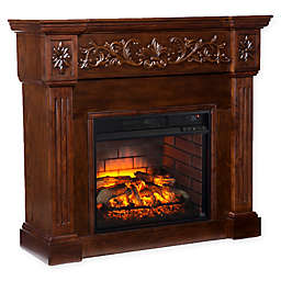 Southern Enterprises Calvert Carved Infrared Electric Fireplace