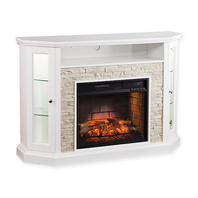 Alternate image 1 for Southern Enterprises Redden Corner Convertible Infrared Electric Media Fireplace in White