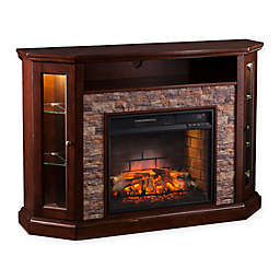 Southern Enterprises Redden Corner Convertible Infrared Electric Media Fireplace