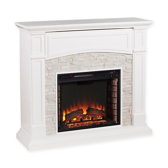 Alternate image 1 for Southern Enterprises Seneca Electric Media Fireplace in White