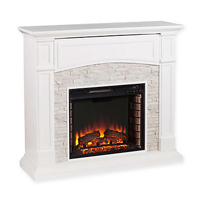 Southern Enterprises Seneca Electric Media Fireplace in White
