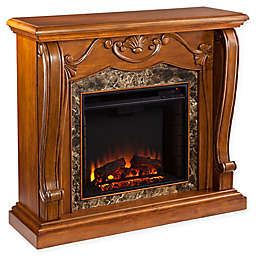 Southern Enterprises Cardona Electric Fireplace in Walnut