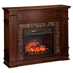 Southern Enterprises Highgate Stone Infrared Electric Media Fireplace in Maple