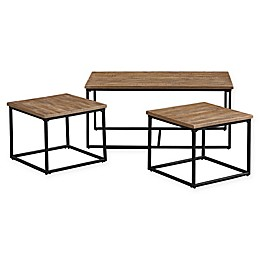 Standard Furniture Mfg. Ridgewood 3-Piece Accent Table Set in Antique Black