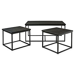 Standard Furniture Mfg. Montville 3-Piece Accent Table Set in Pewter