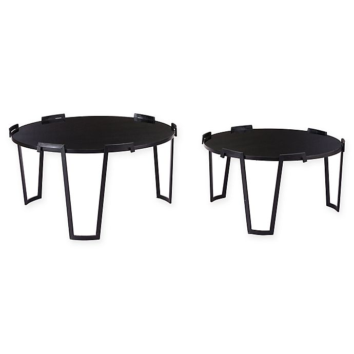 Alternate image 1 for Zuo® 2-Piece Nesting Coffee Tables in Black
