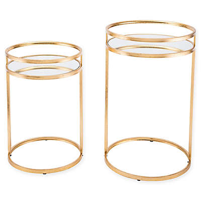 Zuo® Round 2-Piece Nesting Tables in Gold