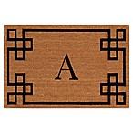 Nourison Elegant Entry Monogrammed  A  12-Inch x 24-Inch Door Mat