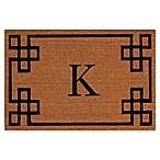 Nourison Elegant Entry Monogrammed  K  12-Inch x 24-Inch Door Mat