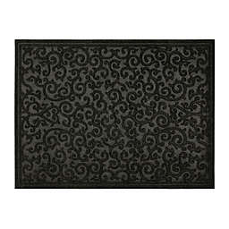 Mohawk Home Impressions Scroll 36-Inch x 48-Inch Utility Mat in Charcoal