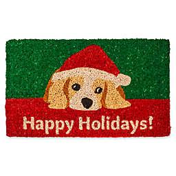 Entryways Dog Lovers Holiday 18-Inch x 30-Inch Coconut Fiber Multicolor Door Mat