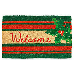 Entryways Welcome Holly 18-Inch x 30-Inch Coconut Fiber Multicolor Door Mat