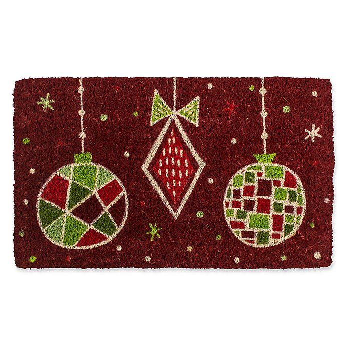 Alternate image 1 for Entryways Geo Ornaments 18-Inch x 30-Inch Coconut Fiber Multicolor Door Mat