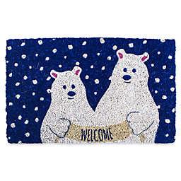 Entryways Polar Bears 18-Inch x 30-Inch Coconut Fiber Multicolor Door Mat