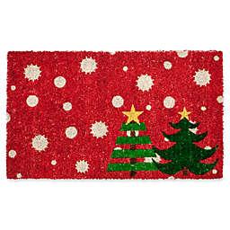 Entryways Christmas Trees 17-Inch x 28-Inch Multicolor Door Mat