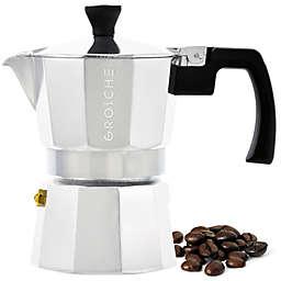 Grosche Stove Top 3-Cup Espresso Coffee Maker in Silver
