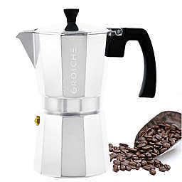 Grosche Stove Top Espresso Coffee Maker in Silver