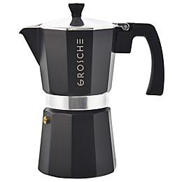 Grosche Stove Top Espresso Coffee Maker in Black