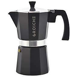 Grosche Stove Top 6-Cup Espresso Coffee Maker in Black
