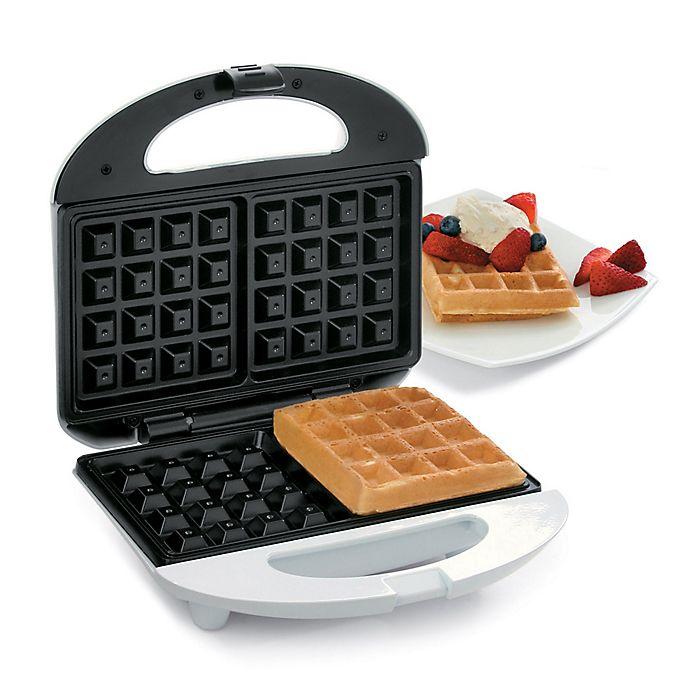Alternate image 1 for Salton Belgian Waffle Maker in White