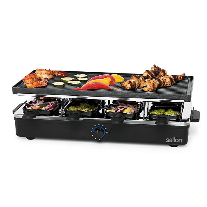 Alternate image 1 for Salton 8-Person Party Grill and Raclette
